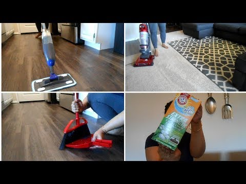 CLEAN WITH ME!!FLOOR CLEANING AND CARPET CLEANING ROUTINE!!