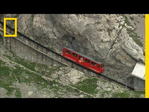 A Swiss Alpine Train Ride is Dizzyingly Steep | National Geographic