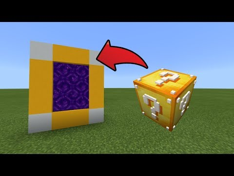 How To Make a Portal to the Lucky Block Dimension in MCPE (Minecraft PE)