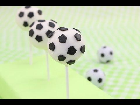 Fußball-WM / Fußball Cake Pops / Zitronen-Joghurt Cake Pops / Soccer Cake Pops