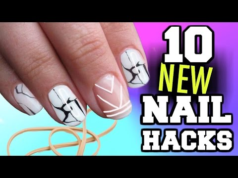 10 Nail Art HACKS You've NEVER seen before!!