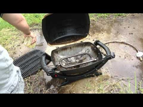 How to Clean a Weber Baby Q Barbeque - Cleaning a Gas BBQ Grill