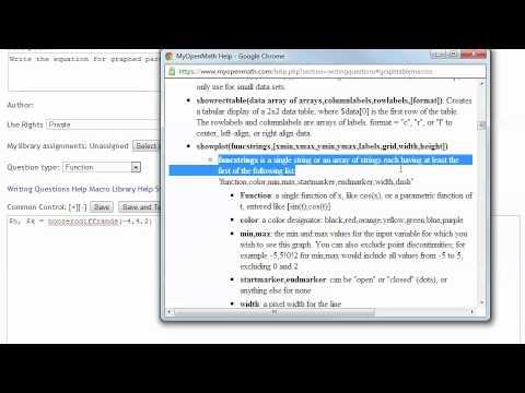 Question Writing in MyOpenMath / WAMAP Part 1