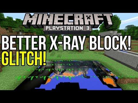 Minecraft Playstation 3 Glitch: Crystal Clear X-Ray Block! [PS3]