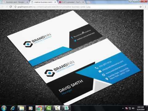 business card design in coreldraw Cretive Graphics Arts