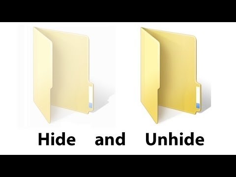 How to Hide and Unhide Folder in Windows 7, 8, XP | by King Tutorials