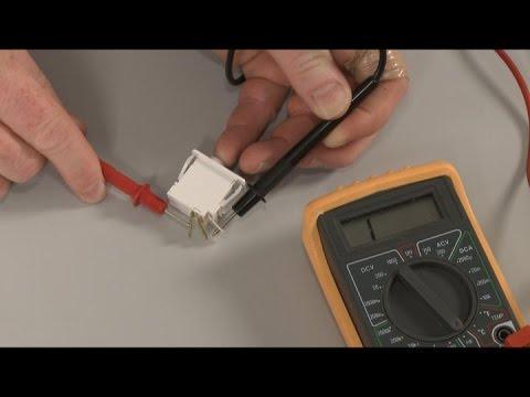 Fridge Light Not Working? Three Terminal Switch Test, Repair