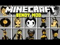 Minecraft BENDY AND THE INK MACHINE MOD! | BENDY, BORIS, ALICE ANGEL & MORE! | Modded Mini-Game