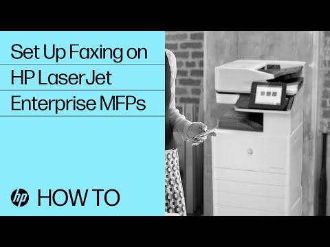 How To Set Up Faxing on HP LaserJet Enterprise MFPs