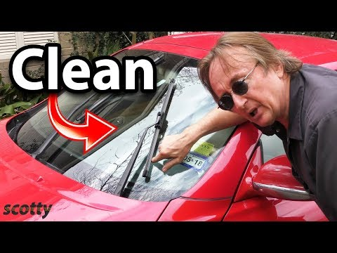 How to Super Clean Your Car's Windshield and Wiper Blades (Life Hack)