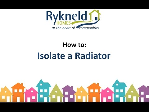 How to isolate a radiator