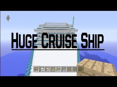 Minecraft Xbox 360 Biggest Cruise Ship! 800 Blocks Long