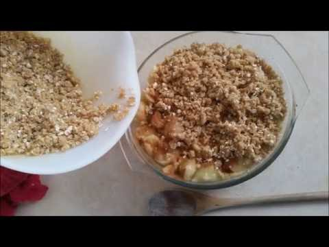 My simple and easy Apple & Feijoa Crumble recipe