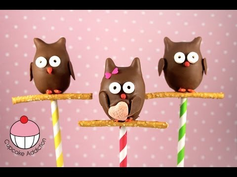 How to make Owl Cake Pops by Cupcake Addiction