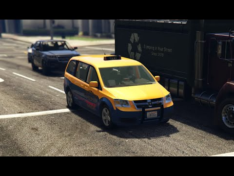 GTA V Mods | Showcases | Dodge Grand Caravan Taxi 2008 [Add-On / Replace] 1.2