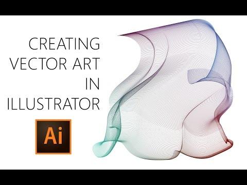 Creating Vector Art in Adobe Illustrator (Timelapse)