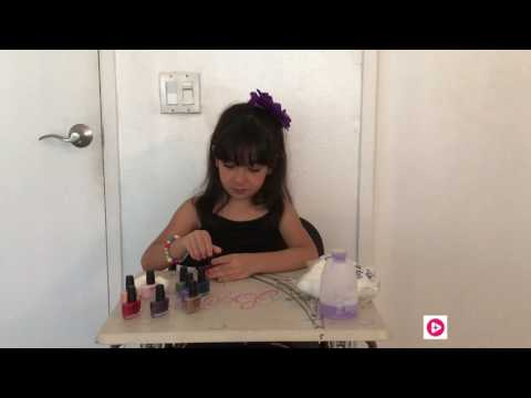 little girl nail polish and temporary tattoo sticker tutorial show
