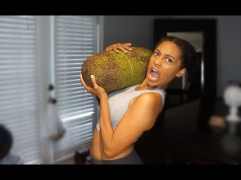 $40 FRUIT MY FIRST 20 lb JACKFRUIT OPENING AND EATING
