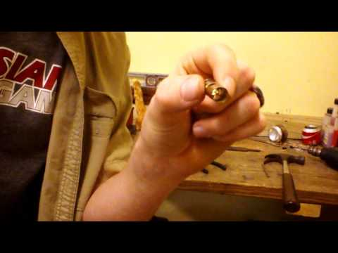 How to make a bullet shell necklace.