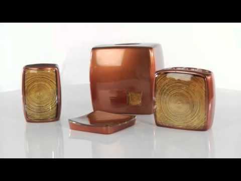Minerale Copper Bath Ensemble at Bed Bath & Beyond
