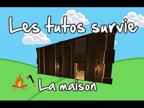 Unturned FR tuto survie : How to build a 2 floors base ( Maison )