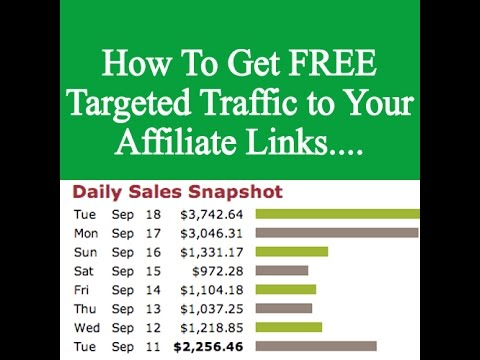 How To Get FREE Traffic to Your Affiliate Links