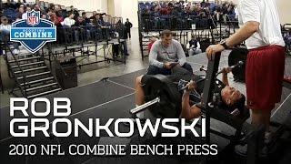 Rob Gronkowski (Arizona, TE) Bench Press   2010 NFL Combine Highlights