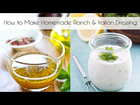 How to Make Ranch and Italian Salad Dressings!  (via Facebook Live)