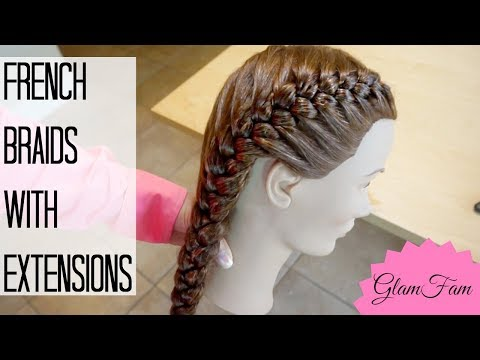 How to French Braid with Weave | How to braid