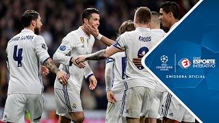 Melhores Momentos - Real Madrid 3 x 1 Napoli - Champions League (15/02/2017)