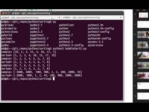 Python Algorithms - bubble sort - bubble smaller numbers to left
