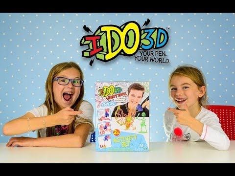IDO3D VERTICAL PEN The World's First Cool Ink 3D Printing Pen How to make 3D Flowers and Sceletor KI
