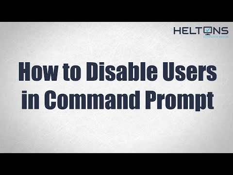 How to Disable User in (CMD) Command Prompt
