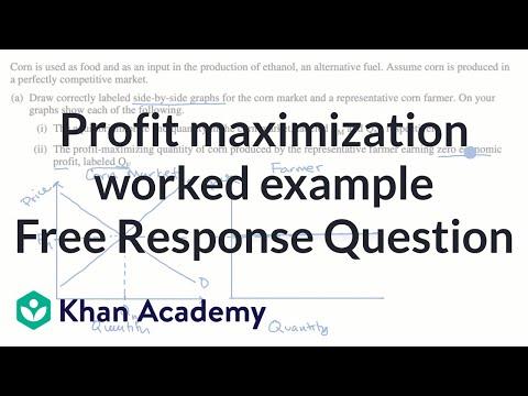 Profit maximization worked example Free Response Question | APⓇ Microeconomics | Khan Academy