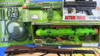 Guns Toys for Kids !!! Bazooka ,Shotgun,Machine gun &Military equipment- VIDEO FOR KIDS