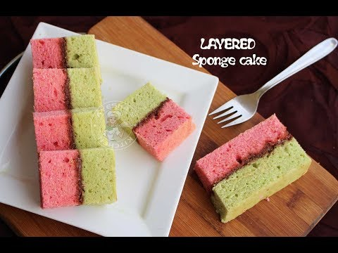 How to bake layered sponge cake in a single pan / Tips while baking