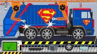 Garbage Truck Superman | Toy Factory | Video For Kids | Śmieciarka Superman z Fabryki
