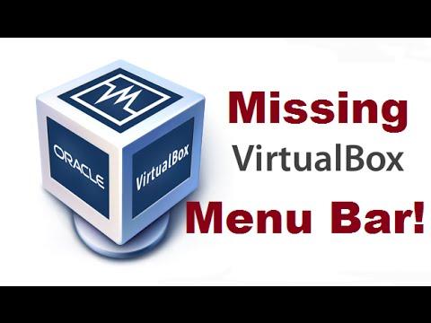 Enable Menu Bar on Virtual Box after it disapear