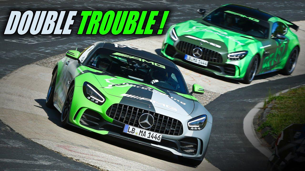 2x Mercedes AMG GT R & Pro Drivers Enter The Nürburgring...