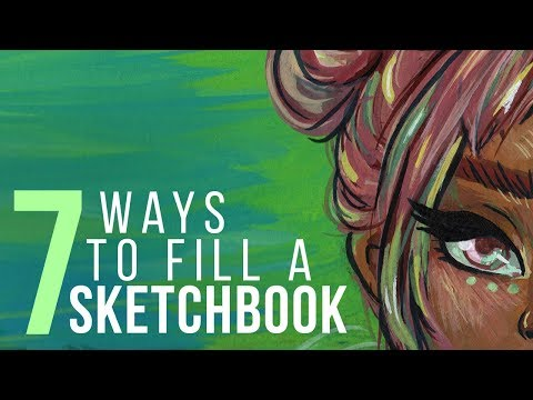 7 WAYS TO FILL A SKETCHBOOK | Sketch With Me - Gouache Speed Paint |