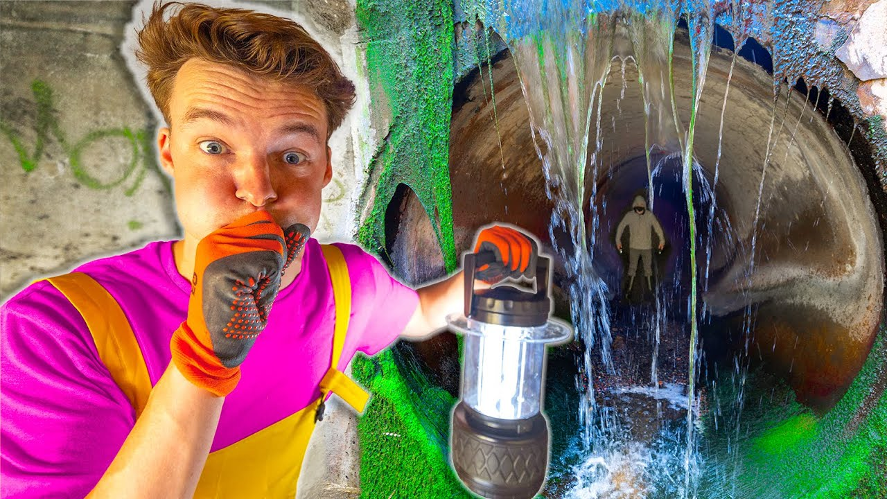 LIVING IN A HAUNTED UNDERGROUND SEWER for 24 Hours!