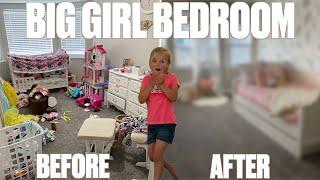 EXTREME BEDROOM MAKEOVER | LITTLE GIRL 2 BIG GIRL BEDROOM COMPLETE REMODEL AND TRANSFORMATION REVEAL