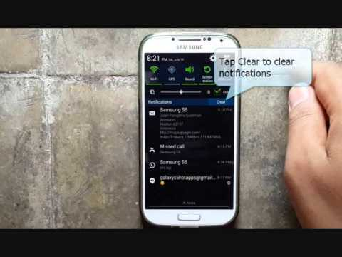 Samsung Galaxy S4 : How to Clear Notification (Android Kitkat)