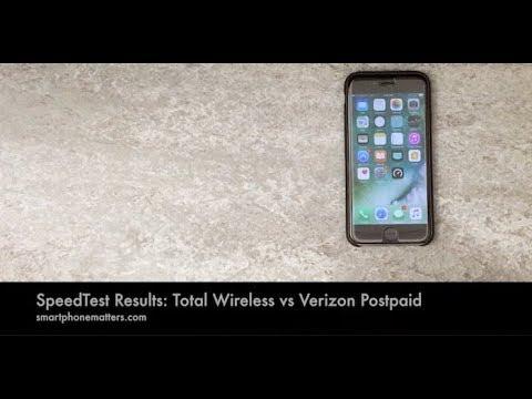 SpeedTest Results: Total Wireless vs Verizon Postpaid