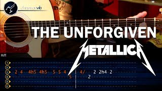 """Cómo tocar """"The Unforgiven"""" de Metallica en guitarra acústica (HD) Tutorial - Christianvib"""