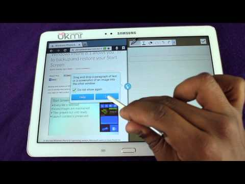 Samsung Galaxy Note 10.1 2014 Edition Multi Window Demo