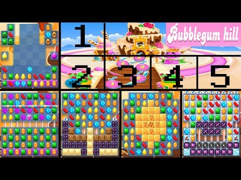 Bubblegum Hill - February 27, 2018 - Candy Crush Soda Saga - No boosters