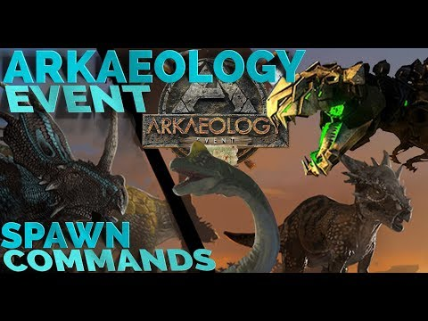 All ARKaeology Event - Spawn commands | TEK REX & 4 NEW SKINS | PC, Xbox, PS4