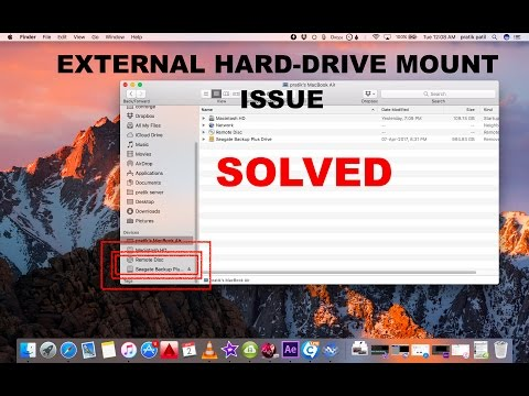 Unable to Mount external hard drive on mac [solved]