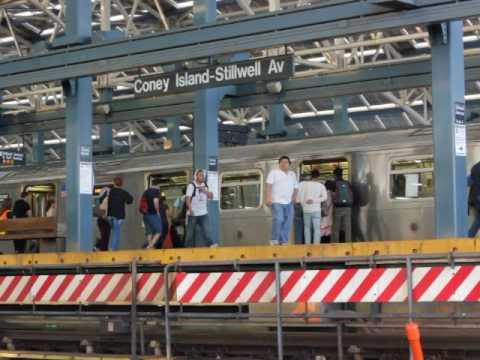 Subway station in Brooklyn Coney Island